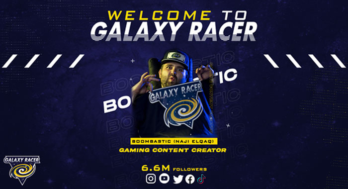 Naji elqaq, Arab influencer and Content Creator, joins Galaxy Racer Esports