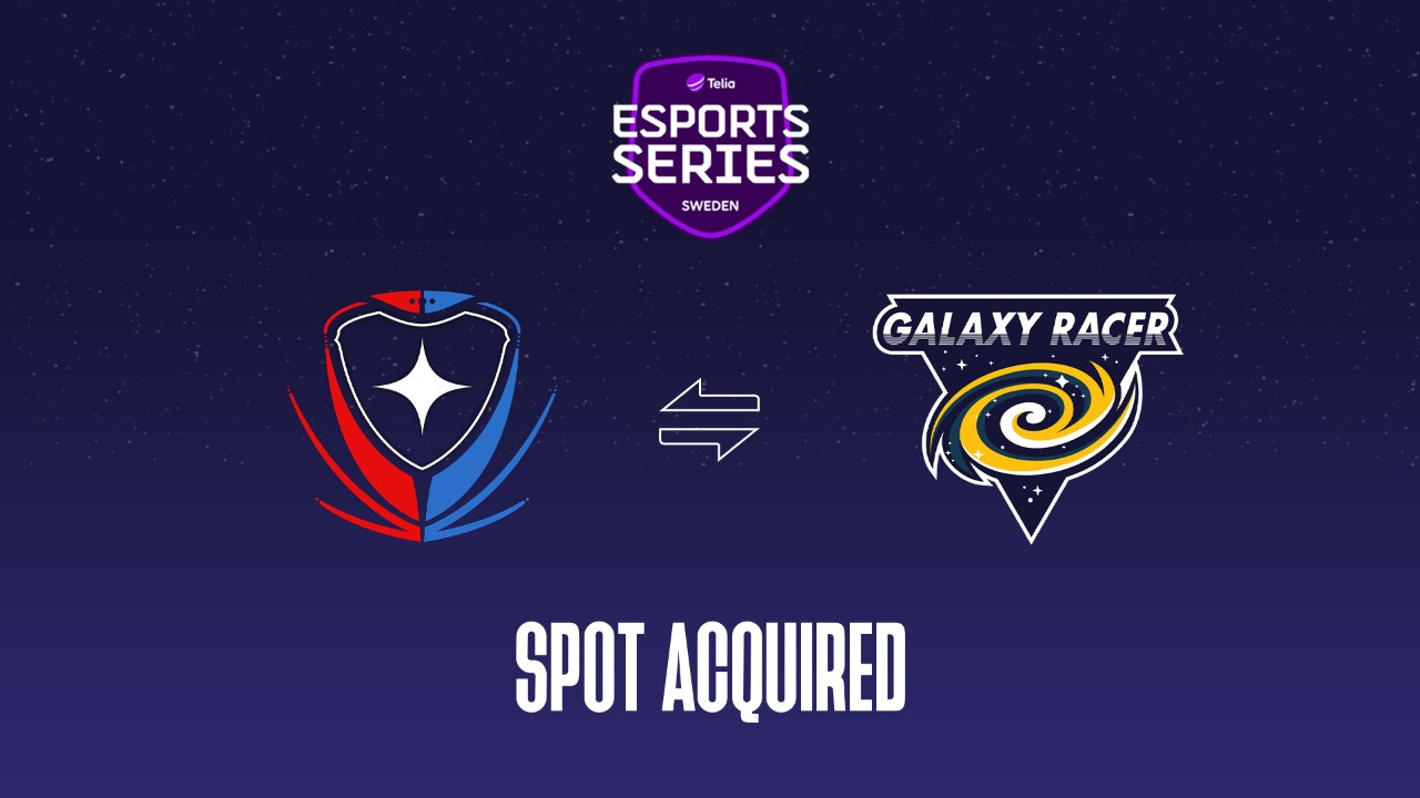 Galaxy Racer Esports acquires a slot in the Telia Esports Series Sweden